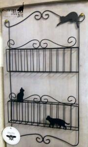 猫ウォールポケット2段