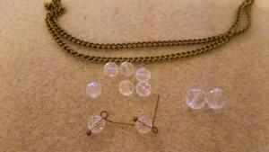 アンティークと水晶